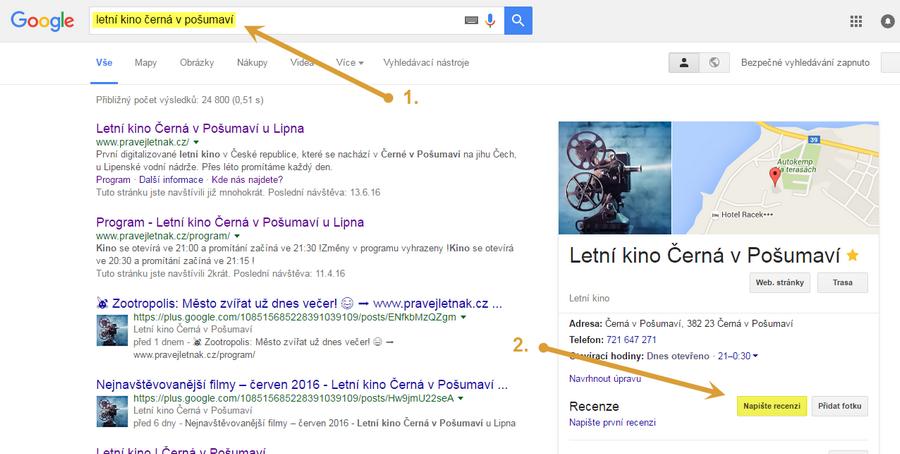 Google - recenze